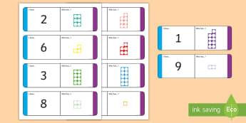 Numbers 1 - 10 with Number Shapes Loop Cards - Numbers 1 - 10 with Number Shapes Loop Cards - numbers, 1-10, loop cards, numicon,numbes,nubers, car