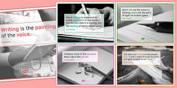 Writing Quote Posters for KS4 - writing quote, posters, display, ks4, writing, quote
