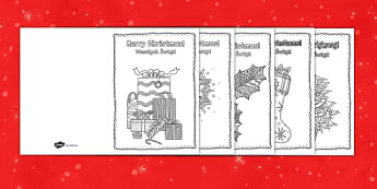 Mindfulness Colouring Christmas Cards English/Polish - Mindfulness Colouring Christmas Cards - mindfulness, colouring, christmas, cards,mindfullness, coler
