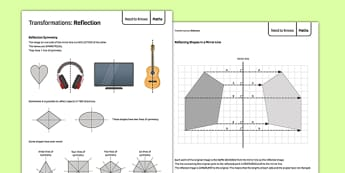Maths Need To Knows Reflection - maths, need to know, reflection, ks3, key stage 3, numeracy