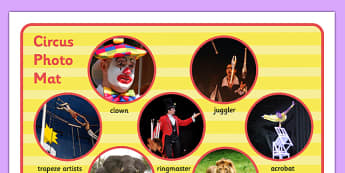 Circus Photo Mat - circus, photo mat, photo, mat, display, words