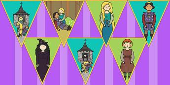 Rapunzel Bunting - bunting, display, rapunzel, display bunting
