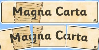 The Magna Carta Display Banner - magna, carta, display, banner