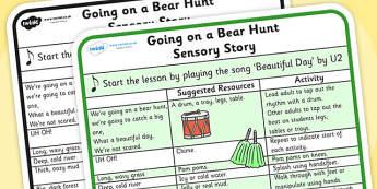 We're Going on a Bear Hunt Sensory Story - were going on a bear hunt, were going on a bear hunt sensory guide, were going on a bear hunt lesson plan, sen