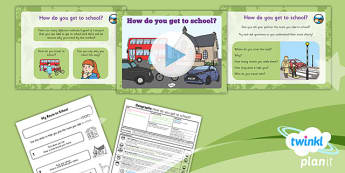 PlanIt Geography Year 1 Our School Lesson 5 How Do You Get School