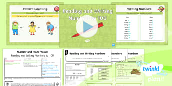 PlanIt Y2 Number and Place Value Read and Write Numbers (2) Lesson Pack - reading, writing, formation, numerals, words, hundred, year 2, year two, ks1, maths, ppt, powerpoint