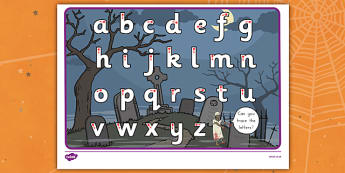 Halloween Themed Letter Writing Worksheet -ESL Letter Writing