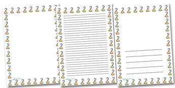 Pirate Hook Portrait Page Borders- Portrait Page Borders - Page border, border, writing template, writing aid, writing frame, a4 border, template, templates, landscape