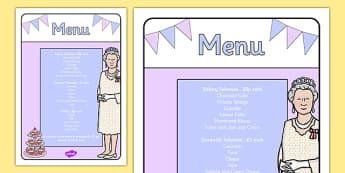 Royal Afternoon Tea Role Play Menu - royal, afternoon tea, role play, menu, food