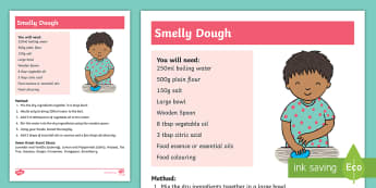Smelly Dough Activity - dough, sensory, non-verbal, senses, feel, touch,