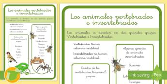 Los animales vertebrados e invertebrados - La célula, niveles de organización de la vida, clasificación de los seres vivos, especie, género