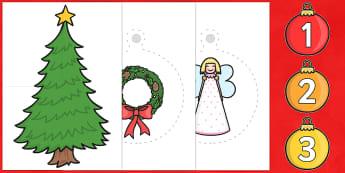 Large Display Advent Calendar - Christmas, xmas, advent, calendar, activity, tree, advent, nativity, santa, father christmas, Jesus, tree, stocking, present, activity, cracker, angel, snowman, advent , bauble