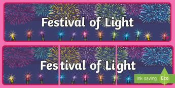 Festival of Light Display Banner - Festival of Light Display Banner, Diwali, lights, lamps, fireworks, festivl, festival, bnanner, bane