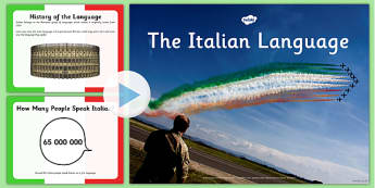 Italian Language PowerPoint - italian, language, powerpoint, eal, languages