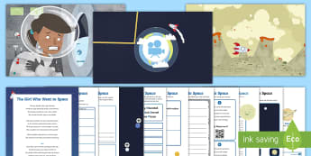 KS2 The Girl Who Went to Space Animation and Activity Pack - Earth, Planets, Mars, Sun, Astronaut, rocket