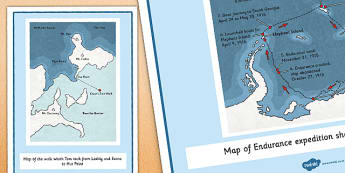 Tom Crean Expedition Maps Display Cards - Tom Crean, Irish History, South Pole, Antarctica, display, maps
