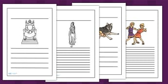 Romulus and Remus Writing Frames - romans, writing template, rome