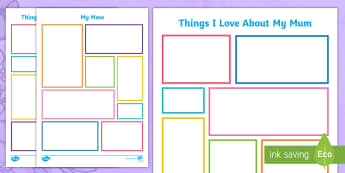 Things I Love About My Maw Activity Sheet-Scottish - CfE Mother's Day March 26th, mothering sunday, mother's day, mothers day, cfe events, cfe first, c
