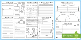Year 4 First Week Back Activity Pack - back to school, KS2, LKS2, new school year, all about me