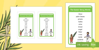 Ikea Tolsby The Easter Story Words Prompt Frame - easter, Jesus, easter story, traditional, bible stories