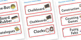 Ruby Themed Editable Additional Classroom Resource Labels - Themed Label template, Resource Label, Name Labels, Editable Labels, Drawer Labels, KS1 Labels, Foundation Labels, Foundation Stage Labels, Teaching Labels, Resource Labels, Tray Labels, Pri