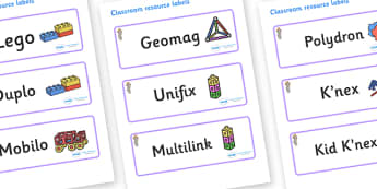 Selkie Themed Editable Construction Area Resource Labels - Themed Construction resource labels, Label template, Resource Label, Name Labels, Editable Labels, Drawer Labels, KS1 Labels, Foundation Labels, Foundation Stage Labels