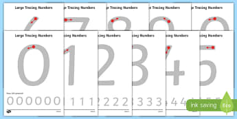 Large Tracing Numbers 0-20 - large, tracing, trace, numbers, maths, 0-20