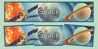 Space Display Banner - space, display banner, display, banner, physics, ks3