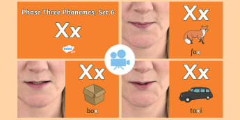 Phase Three Phonemes: Set 6: 'x' Video - Phonics, Letters and Sounds, Grapheme, pronunciation, j,v,w,x