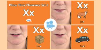 Phase 3 Phonemes : Set 6 'x' Video - Phonics, Letters and Sounds, Grapheme, pronunciation, j,v,w,x, Twinkl Go, twinkl go, TwinklGo, twinklgo