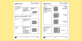 KS3 Maths Need to Knows: Algebra Notation - ks3, maths, need to know, algebra, notation