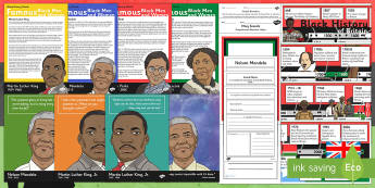 Black History Month Resource Pack - History Club, Black history month, Life Long Learning, Support, Ideas, Elderly Care, Care Homes, Act
