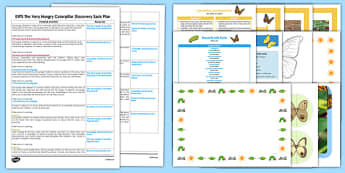 EYFS Discovery Sack Plan and Resource Pack to Support Teaching on The Very Hungry Caterpillar - discovery, sack