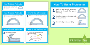 How To Use A Protractor Flashcards - How To Use A Protractor Flash Cards - how to use a protractor, sign, protractor, how to, using, use,