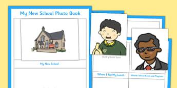My New School Photo Book - my new school, photo school, photo, book