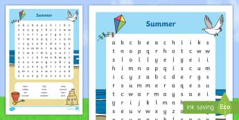 Summer Word Search - NI Summer, word search, word, search, summer, NI, NI Summer, summer word search, wordsearch
