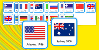 Olympic Timeline Sorting Cards - Olympics, Olympic Games, sorting cards, sorting, cards, activity, sports, Olympic, London, images, editable, event, picture, 2012, activity, Olympic torch, medal, Olympic Rings, mascots, flame, compete, events, tennis
