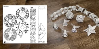 Mindfulness Colouring Christmas Decorations - mindfulness, colouring, colour, christmas, decorations
