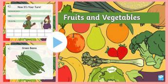 Obst und Gemüse englischer Wortschatz PowerPoint Präsentation - Englisch, Essen, Früchte, Aussprache, Vokabular,