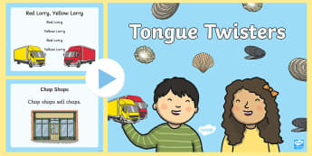 Tongue Twisters PowerPoint - rhyme, poem, powerpoint, ppt, tongue, twister,