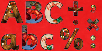 Christmas Themed Photo Display Lettering - christmas, letters