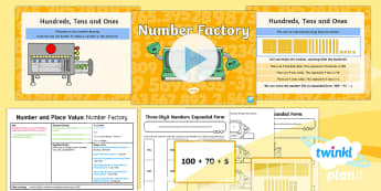 PlanIt Y3 Number and Place Value Lesson Pack Place Value (4) - problem solving, maths mastery, year 3, fun maths, hundreds, tens, ones, number value, 3 digits, thr