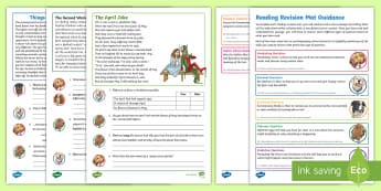 SATs Survival Year 6: Reading Revision Activity Mat Pack 2  - SATs Survival Materials Year 6, SATs, assessment, 2017, English, SPaG, GPS, grammar, punctuation, sp