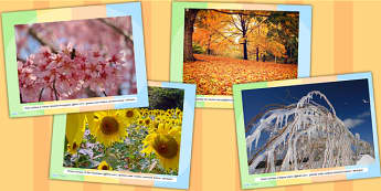 Four Seasons Display Photo PowerPoint - seasons, weather, photos