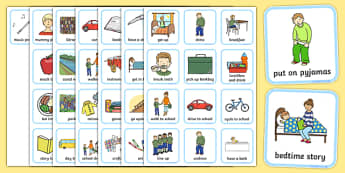 Daily Routine Visual Timetable for Boys - daily routine, visual timetable