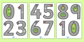 Road Themed Number Formation - road, themed, number formation, number, formation, numeracy, fine motor skills, overwriting