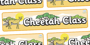 Cheetah Themed Classroom Display Banner - Themed banner, banner, display banner, Classroom labels, Area labels, Poster, Display, Areas