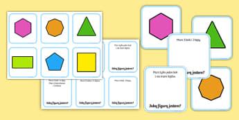 Karty do dopasowania Figury geometryczne - figury, geometria, geometryczne, figur, matematyka, właściwości, własności, bok, kąt, wierzcho