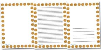Marigold Flower Portrait Page Borders- Portrait Page Borders - Page border, border, writing template, writing aid, writing frame, a4 border, template, templates, landscape