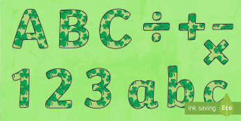 St Patrick's Day Display Lettering - KS1 & 2 St Patrick's Day UK March 17th 2017